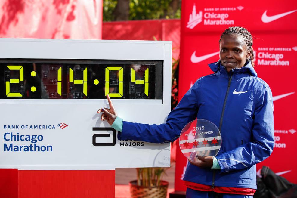 brigid kosgei - rosa associati - world record - 6
