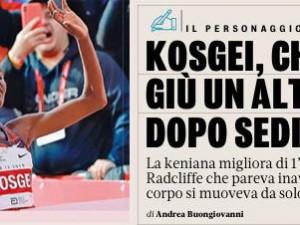 Record del mondo Kosgei: rassegna stampa La Gazzetta dello Sport