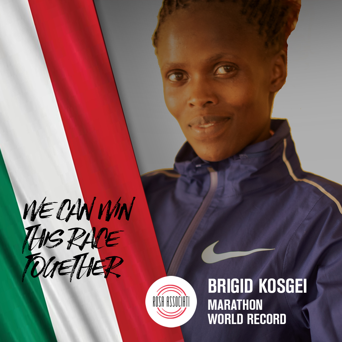 21 2020 - Campagna social We can win this race together - Brigid Kosgei