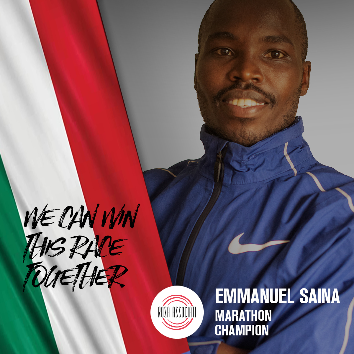 21 2020 - Campagna social We can win this race together-Emmanuel Saina