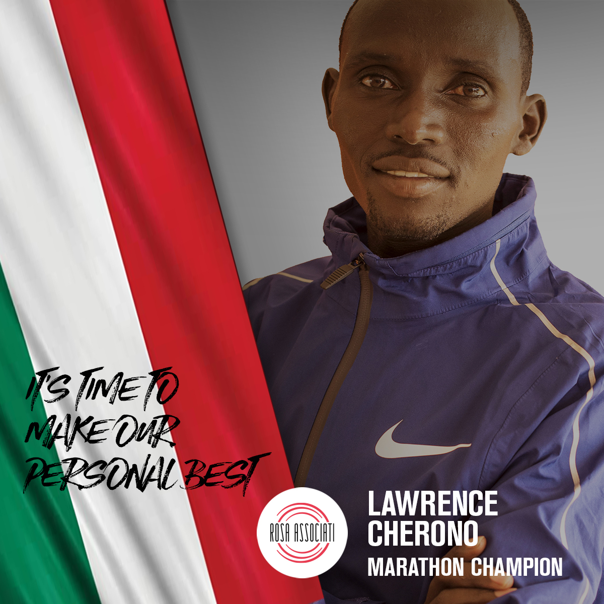 21 2020 - Campagna social We can win this race together - Lawrence Cherono