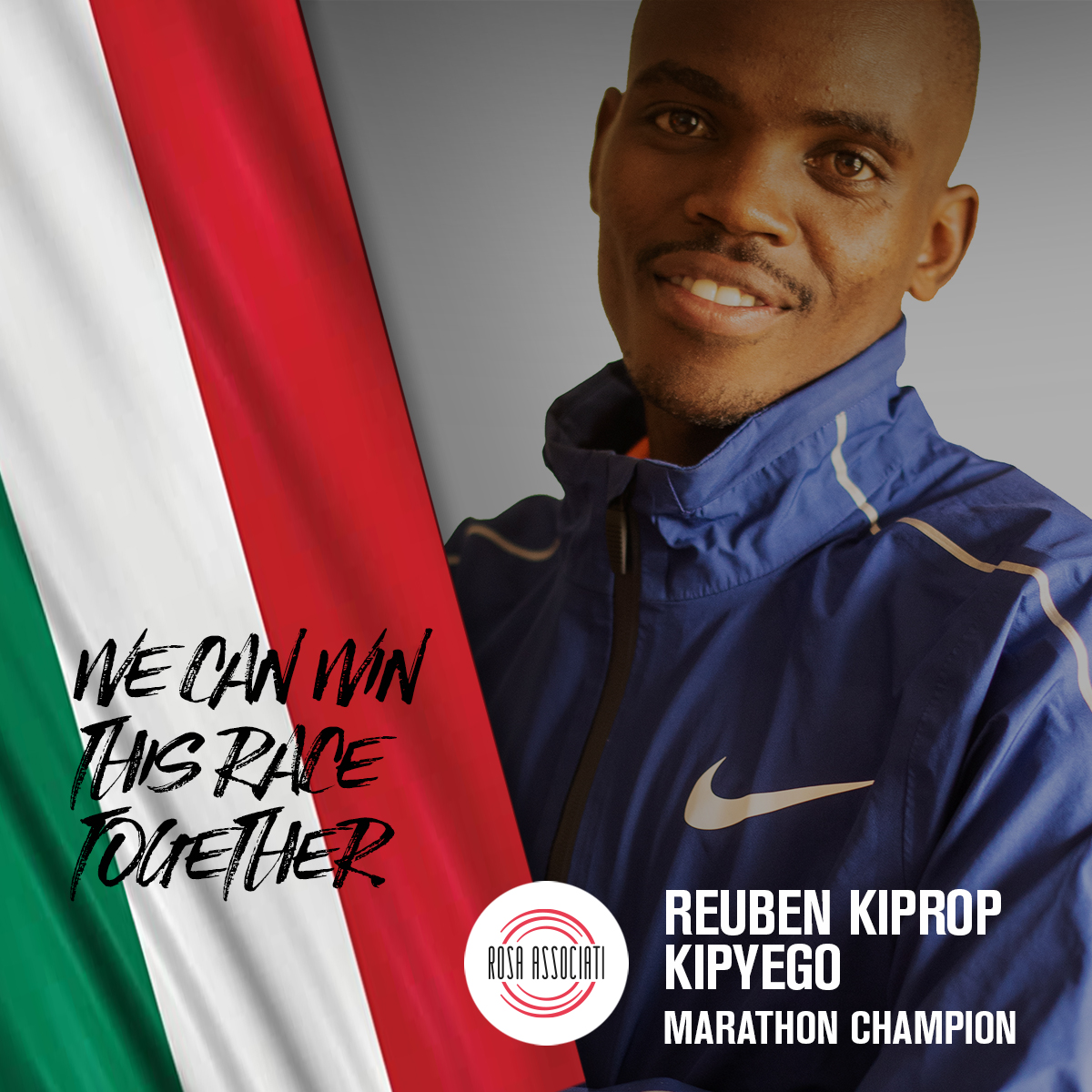 21 2020 - Campagna social We can win this race together-Reuben Kiprop Kipyego