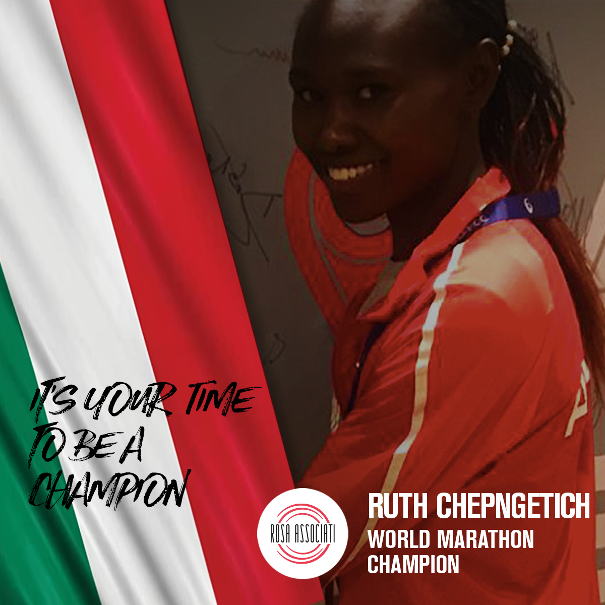 21 2020 - Campagna social We can win this race together - Ruth Chepngetich 1a