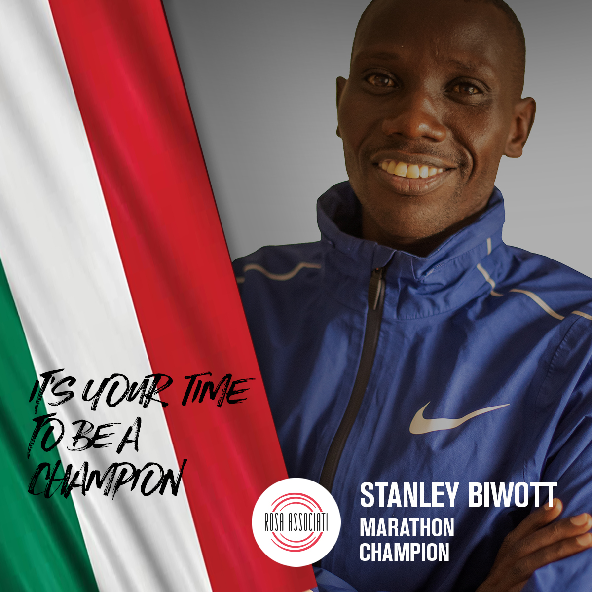 21 2020 - Campagna social We can win this race together-Stanley Biwott