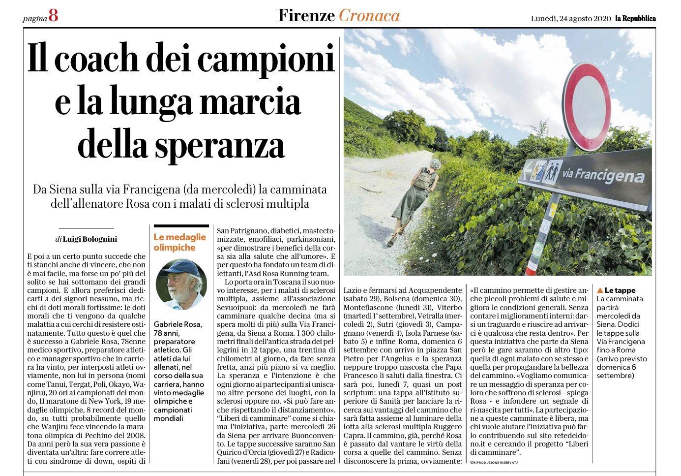 Repubblica - Cronaca Firenze - 24 agosto